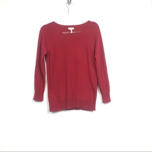 Joie Red Boatneck Cashmere Pullover Sweater XS
